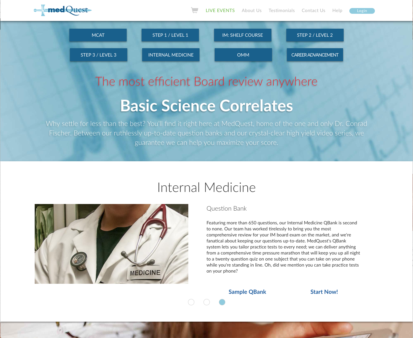 MedQuest Homepage