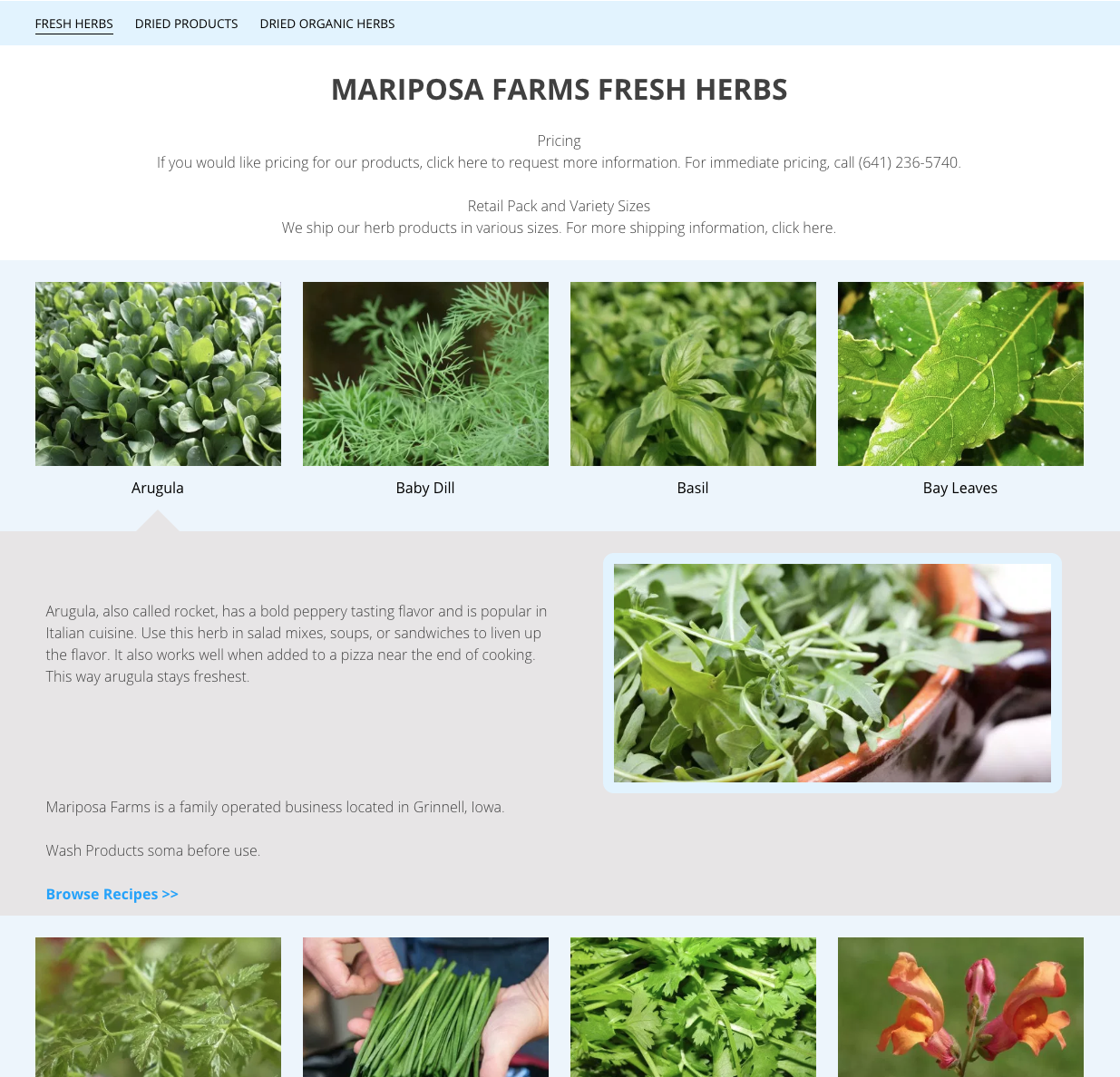 Mariposa Products