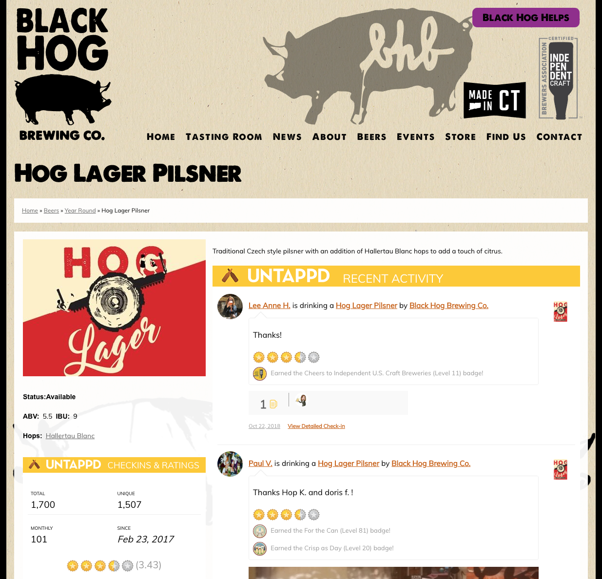 Black Hog Beer