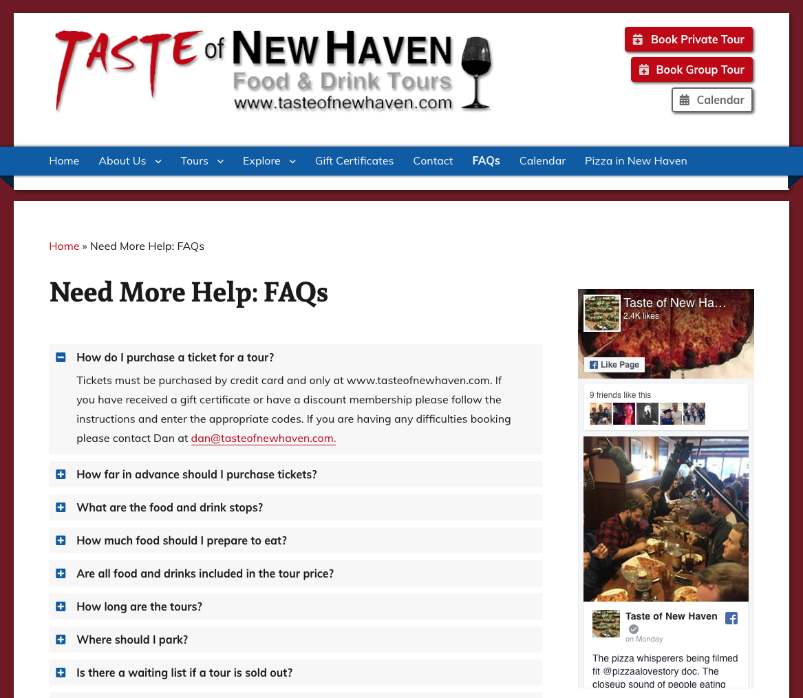 Taste of New Haven FAQ