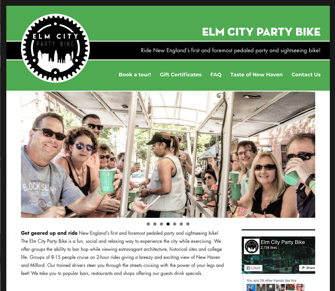 Elm City Party Bike Home