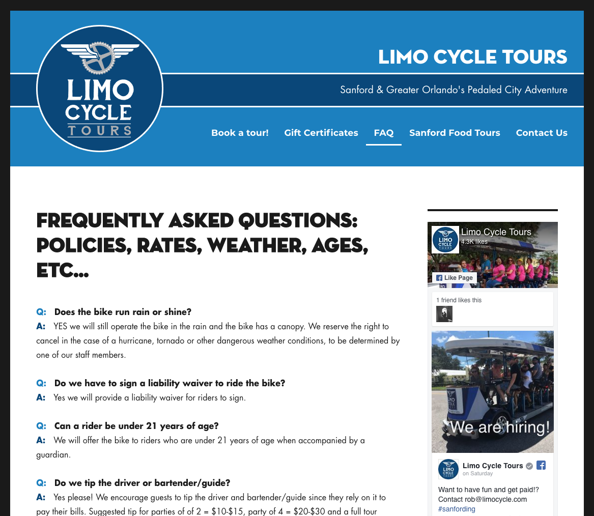 Limo Cycle FAQ